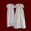 Click to Enlarge Picture - Ivory Silk Dupione Christening Coat With Silk Jacquard Accents