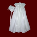 Click to Enlarge Picture - Irish Linen Gown With Celtic Cross & Trinity