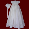 Silk Dupione Gown With Puffing & Pearls