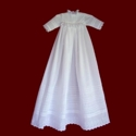 Click to Enlarge Picture - Heirloom Christening Gown With Tucks, Slip & Bonnet