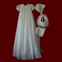 Click to Enlarge Picture - Heirloom Christening Gown With Boy & Girl Detachable Bibs