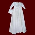 Velveteen Christening Coat With Marabou Boa & Bonnet
