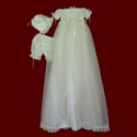 Click to Enlarge Picture - Girls Overlay Detachable Gown With Dress, Panties & Bonnet