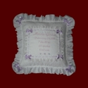 Click to Enlarge Picture - Personalized Keepsake Baby Girl Eyelet Pillow