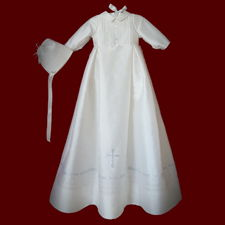 Click to Enlarge Picture - The Hail Mary Christening Gown For Boys