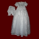 Click to Enlarge Picture - Organza With Crosses & Embroidered Hail Mary Prayer Gown