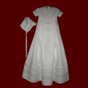Click to Enlarge Picture - Irish Linen Boys Romper With Entredeux & Detachable Gown