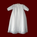 Click to Enlarge Picture - Shantung Christening Coat With Venice Lace