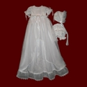 Click to Enlarge Picture - Girls Detachable Embroidered Prayer Gown, Dress & Panties and Bonnet
