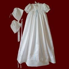 Guardian Angel Unisex Christening Gown, Personalized Slip & Girl/Boy Hat