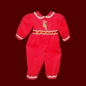 Girls Christmas Corduroy Jumpsuit