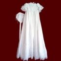 Beaded and Embroidered Netting Girls Designer Christening Gown & Bonnet