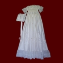 Click to Enlarge Picture - English Netting Lace & Silk Designer Gown & Bonnet