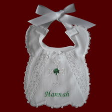 Bless This Child or Personalized Girls Christening Bib