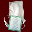Click to Enlarge Picture - Embroidered Shamrocks Magic Hanky Bonnet