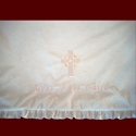 Click to Enlarge Picture - Girls Minky Irish Christening Blanket