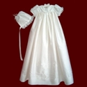 Silk Dupione Christening Gown With Celtic Cross