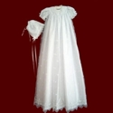 Embroidered Organza Gown With Crosses & Shamrocks
