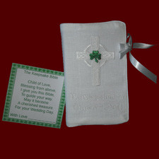 Click to Enlarge Picture - Boys Irish Keepsake Bible With Celtic Cross