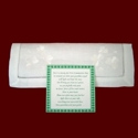 Click to Enlarge Picture - Linen Hanky With Embroidered Shamrocks