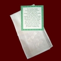 Click to Enlarge Picture - Linen Batiste Wedding Hanky With Shamrocks