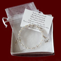 Click to Enlarge Picture - Crystal Rosary Bracelet With Irish Claddagh