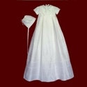 Click to Enlarge Picture - Silk Dupione Boys Gown With Celtic Cross & Detachable Bib & Hat