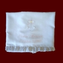 Click to Enlarge Picture - Irish Linen Personalized Christening Blanket