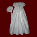 Click to Enlarge Picture - Celtic Christening Gown With Magic Hanky Bonnet