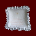 Click to Enlarge Picture - Personalized Christening Pillow