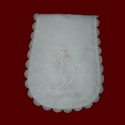 Click to Enlarge Picture - Embroidered Christening Burp Pad