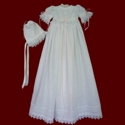 Click to Enlarge Picture - Trinity Roses Irish Linen Christening Gown & Bonnet