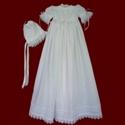 Trinity Roses Irish Linen Christening Gown & Bonnet