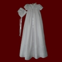 Click to Enlarge Picture - Swarovski Crystal Irish Linen Christening Gown With Hand Embroidery
