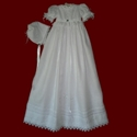Irish Christening Gown With Swarovski Crystals & Venice Lace