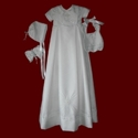 Click to Enlarge Picture - Boys Christening Gown With Cross, Detachable Bib & Accessories