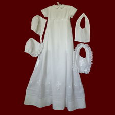 Gaelic Christening Blessing With Shamrock Border Detachable Gown With Romper, Boy & Girl Bibs & Hats
