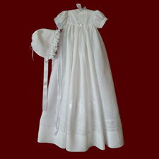 Click to Enlarge Picture - Gaelic Christening Blessing Unisex Christening Gown, Personalized Slip & Hat