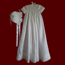 Gaelic Christening Blessing Unisex Christening Gown, Personalized Slip & Hat