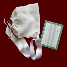 Click to Enlarge Picture - Irish Magic Hanky With Embroidered Shamrock Heart