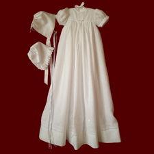 St. Brigids Unisex Christening Gown, Personalized Slip & Bonnet