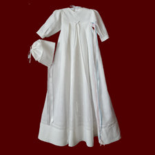 Click to Enlarge Picture - May Gold Hold You In The Palm Of His Hand Unisex Irish Linen Christening Gown