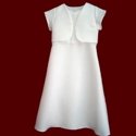 Click to Enlarge Picture - A-line Sleeveless Communion Dress With Optional Jacket