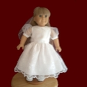Click to Enlarge Picture - American Girl Communion Doll Dress & Veil
