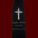 Click to Enlarge Picture - Boys Embroidered Cross Tie with Silver Accents