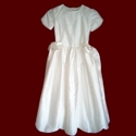Click to Enlarge Picture - Silk Dupione Scalloped Hem Communion Dress