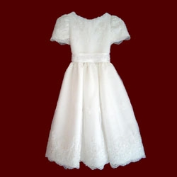 Click to Enlarge Picture - Sequins & Pearls Communion Dress