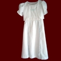 Click to Enlarge Picture - A-line Dress With Smocked Insert & Embroidery