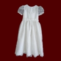 Click to Enlarge Picture - Beaded Organza & Peau de Soie First Communion Dress