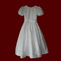 Click to Enlarge Picture - Silk Dupione With Beaded Trim Communion Dress